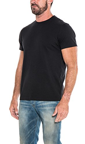 The Classic Tshirt Company - Super Soft - 100% Organic Cotton - Made in USA - Sustainable - Short Sleeve T Shirt for Men (Large, Black)