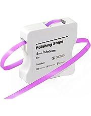 Tand schuurpapier, Dental polijststroken CE goedgekeurd, grootte middel - 50μm breedte - 4mm dikte - 6M / Rollen/Box, NatureAqua hars tand polijsten Interdental schuurgereedschap (roze)