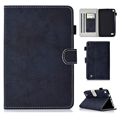 Fire Function for Wake Slot LMFULM PU Inch 2015 Amazon Card and Case Bookstyle HD Leather 2017 Leather Ultrathin Closure 10 of Sleep Magnetic 10 Stent 1 Cover Holster Auto Blue Dark Foldable Function Lea xqqw5gFtrC
