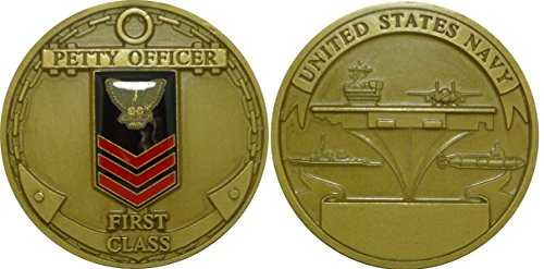 Class Challenge Coin - Navy Petty Officer First Class Challenge Coin