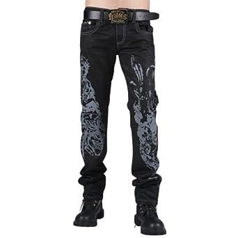 93ee7fc44cbc Kosmo Lupo Herren Jeans Hose Graffiti W36 L32  Amazon.de  Bekleidung