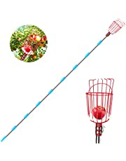 Achort Fruit Picker Tool, 13-Foot Fruit Picker with Light-Weight Aluminum Telescoping Pole and Basket, Fruit Grabber Easy to Assemble, Use Fruits Catcher Tree Picker for Getting Apple