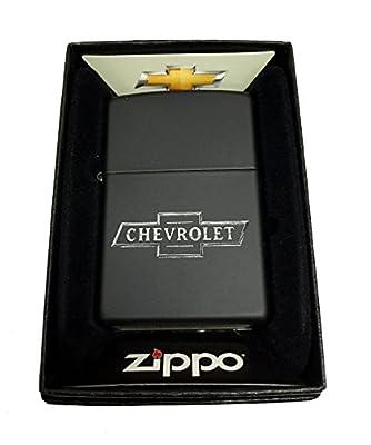 Zippo Custom Lighter - Chevy Chevrolet Bowtie bow tie Logo - Regular Black Matte