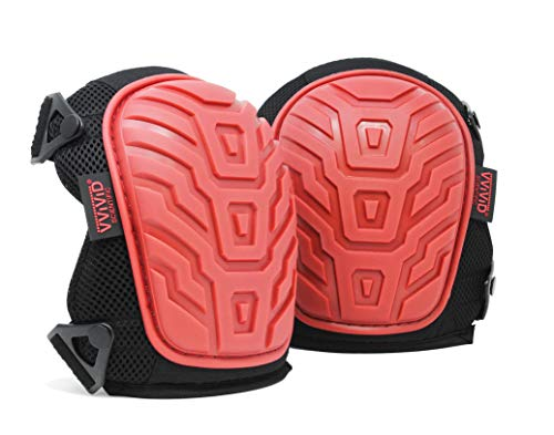 VViViD Heavy-Duty Work Gel Double Strapped Padded Knee Pad Pair