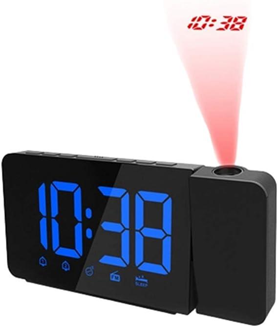 ppaphh Despertador Infantil Reloj Digital Pared Grande Reloj de Mesa Despertadores Digitales cabecera Reloj led Reloj de proyección Luz de Alarma Reloj Blue: Amazon.es: Hogar