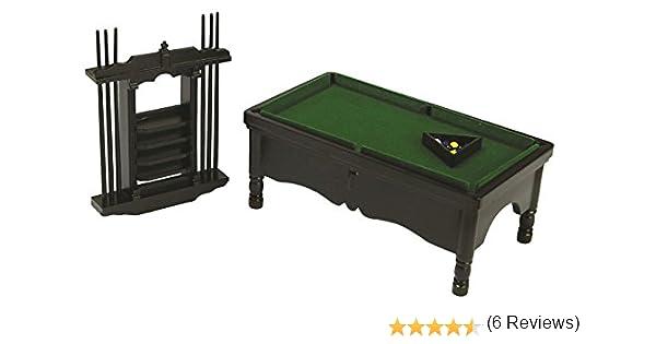 Amazon.es: Juego de Mesa de Pool Negra Miniatura a Escala 1:12 ...