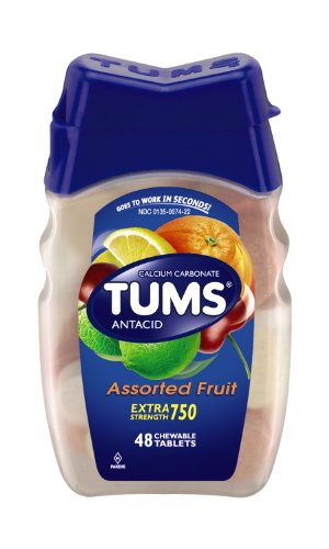 Tums Ex, Assorted Fruit, 48 Count