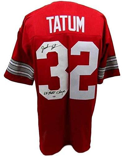 100% authentic 7e193 f08ed Jack Tatum Signed Jersey - Red Custom 130546 - PSA/DNA ...