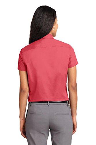 De Camisa Autoridad La Portuaria Mujer Hibiscus Arrugas qxxv7Z