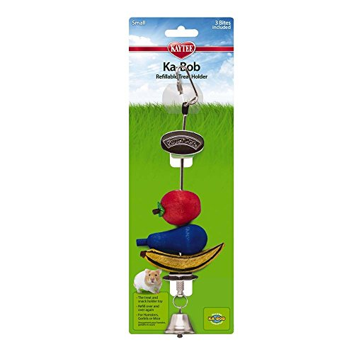Super Pet Ka-Bob Chew Holder Fun Refillable Treat Holder for Wire Cage ()