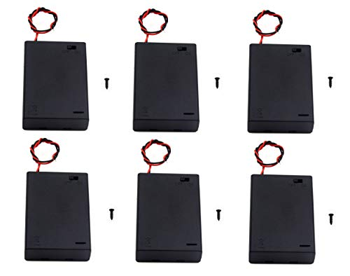 3aa Cell - WAYLLSHINE 6PCS ON/OFF Switch With Cover 3x 1.5V AA Battery Holder Battery Case Battery Box with 5.5
