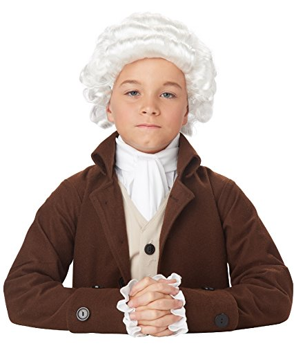 California Costumes Colonial Man Wig Child