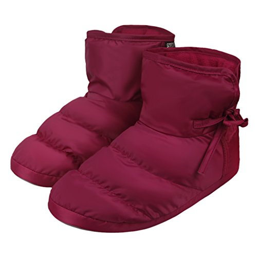 Holiberty Waterproof Cozy Down Warm Fleece Indoor Slippers Bootie Shoes Ankle Snow Boots