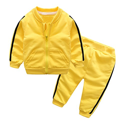 3 Piece Skirt Pant Suit - Chinatera Baby Girls Boys Clothes Set Two-Pieces Solid Jacket Pants Tracksuit Cotton
