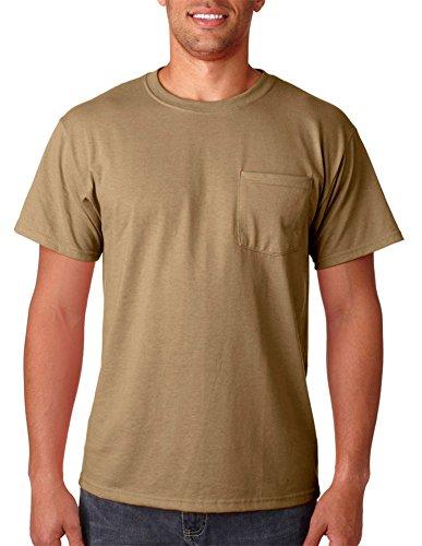 Jerzees Adult Heavyweight Blend Dri-Power Active Pocket T-Shirt, Khaki Brown, XX-Large