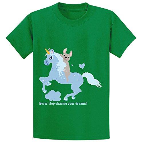 French Bulldog Riding A Unicorn Never Stop Chasing Your Dreams Boys' Shirts (Powerpuff Girls Sexy)