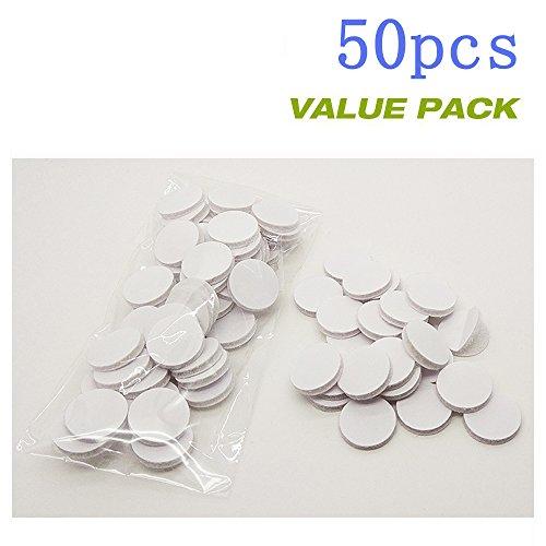 "Sticky Back, 3/4"" Diameter Coins, WHITE SELF ADHESIVE COINS HOOK LOOP, 50 - Hook Felt"