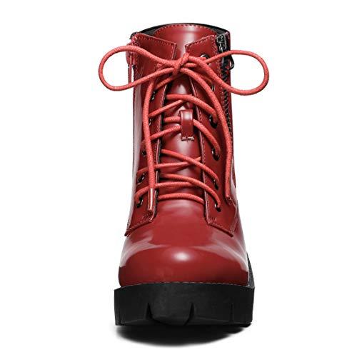 Semelle Femmes Bottines Allegra Rouges Pour K Zippe Compens Talon Et w7BwYx4q6A