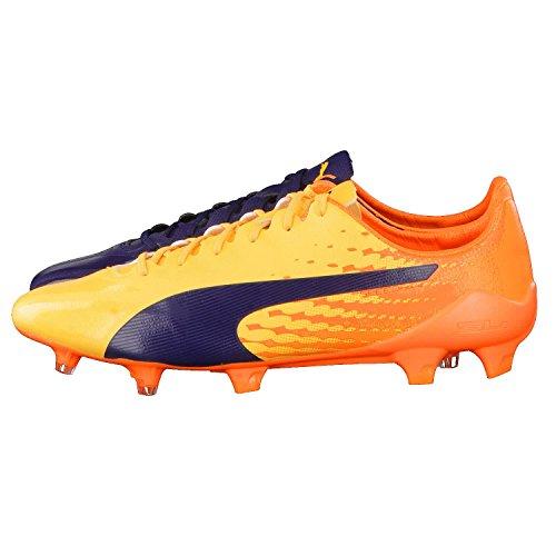 Puma Herren evoSPEED 17 SL S FG Fußballschuhe, 39 EU orange / gelb