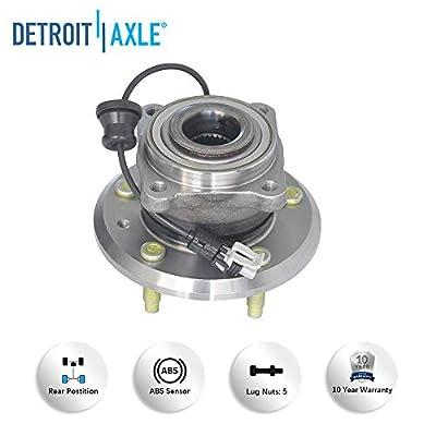 Detroit Axle 512358 Rear Wheel Hub and Bearing Assembly for Chevy Captiva Sport Equinox - Pontiac Torrent - Saturn Vue - Suzuki XL-7 2007 2008 2009 2010-2012 2013 2014 2015: Automotive