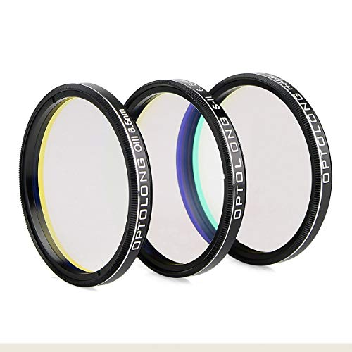 FidgetGear OPTOLONG 7nm H-Alpha SII-CCD/OIII-CCD 6.5nm Narrow-Band Filters for Mounted CO ()