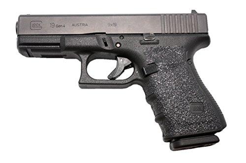 GripOn Textured Rubber Grip Wrap for Gen 4 Glock 19 23 25 32 38 (Black) (Agency Arms Magwell G19 & 23 Gen 4)
