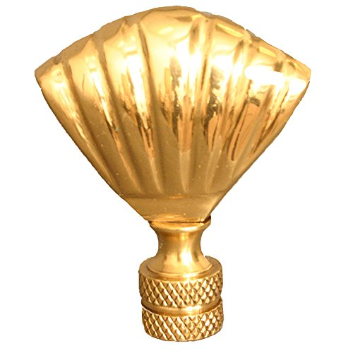 Royal Designs Seashell Lamp Finial for Lamp Shade- Polished Brass ()