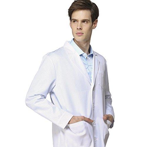Laborkittel kittel Herren Damen Medizin Arztkittel ESD antistatische Arbeitsmantel Labormantel Schutzkleidung für Labor weiß Baumwolle