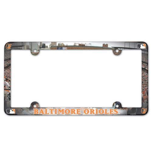 (Wincraft MLB Baltimore Orioles License Plate with Full Color Frame)