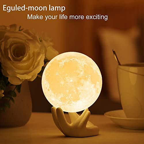- Eguled Moon Lamp Adjustable Brightness and Warm White/Cool White Color, USB Charging Cable. Romantic Moon Light Will Birthday Gifts for Women, Men, Kids, Child, and Baby