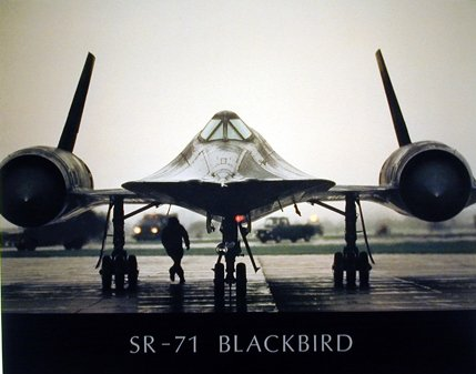 Sr-71 Wall Decor Blackbird Military Spyplane Aviation Art Print Poster (16x20) -