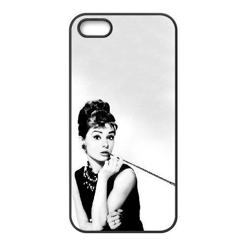Audrey Hepburn 013 2 coque iPhone 4 4S cellulaire cas coque de téléphone cas téléphone cellulaire noir couvercle EEEXLKNBC23189