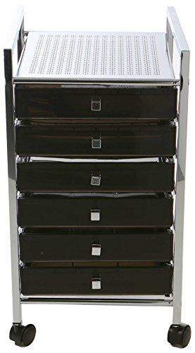 Mind Reader MTROLL6D-BLK Storage Drawer Rolling Utility Cart, Black by Mind Reader