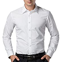 PAUL JONES Men's Long Sleeves Button Down Dress Shirts