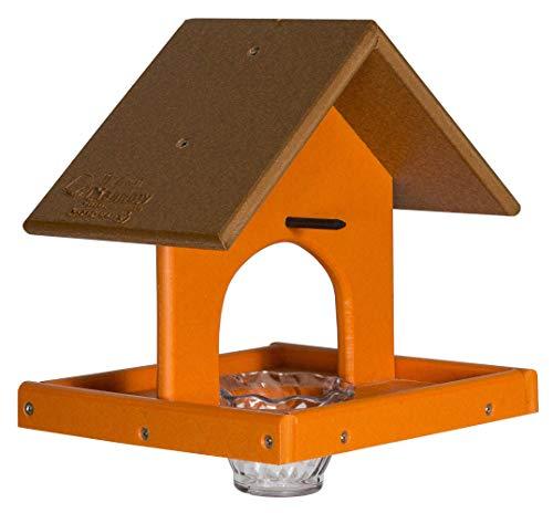 DutchCrafters Amish Poly Single Oriole Feeder (Cedar & Orange) ()