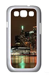 Ablaze With Lights And Beauty Of The City Custom Hard Back Case Samsung Galaxy S3 SIII I9300 Case Cover - Polycarbonate - White hjbrhga1544