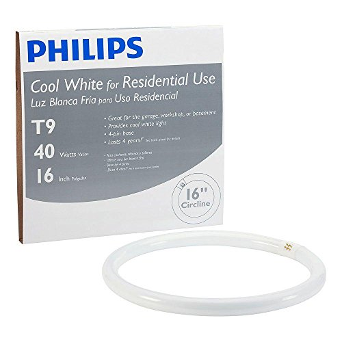Philips Lighting 391185 C-T9 Circline Fluorescent Lamp 39.5 Watt G10q Base 2500 Lumens 62 CRI 4100K 16 Inch Length Cool White Alto Plus (4100k Fluorescent Base White Cool)