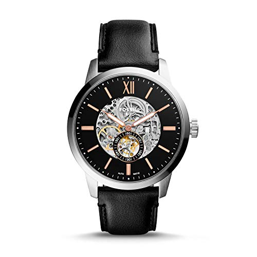 Fossil Townsman Skeleton Dial Automatic Mens Leather Watch ME3153 ()