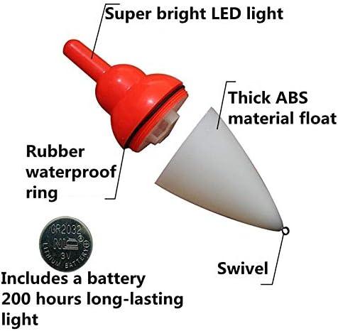 Cikuso LED Flotteur De P/êche /électronique Seawater Sea Flotteur De P/êche en Plastique Calmar Induction /électronique D/érive Bou/ée De P/êche Accessoires De P/êche