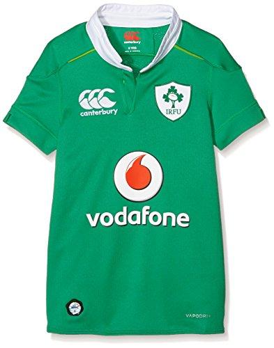 GILBERT–Balón de Rugby de Irlanda Home Kids Home Jersey/16/17, Verde