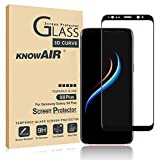 [2 Pack] Galaxy S8 Plus Screen Protector Tempered Glass, [Update Version] 3D Curved Dot Matrix [Full Screen Coverage] Glass Screen Protector [Case Friendly]