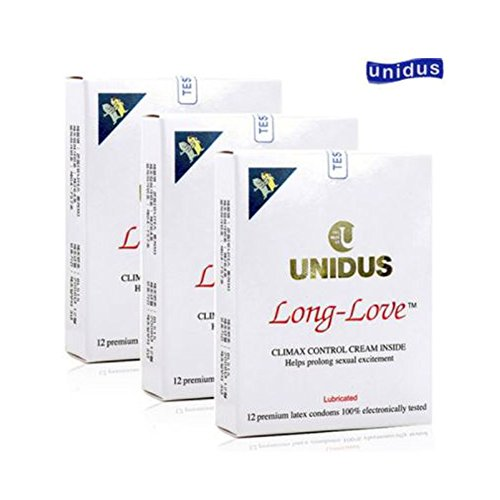 Long Love Climax Control (Plain) Condoms by UNIDUS - 36pcs