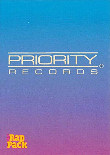 Priority Records trading card (West Coast Hip Hop & Rap Music Label) 1991 Rap Pack #140