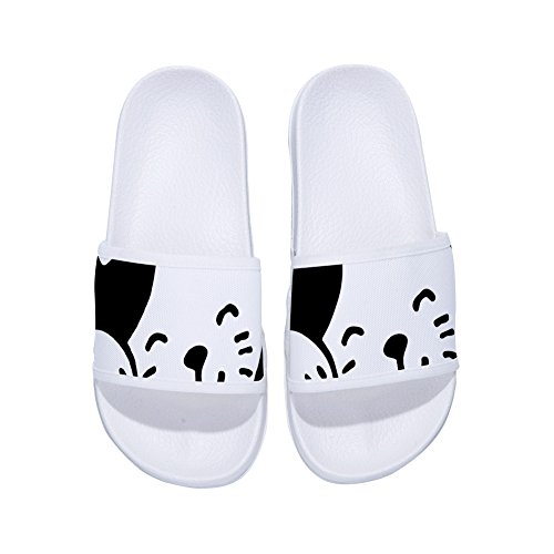 for Quick Slip Non Face Slippers Slippers Drying Womens Cat Cute White Summer pyqw1cgF4
