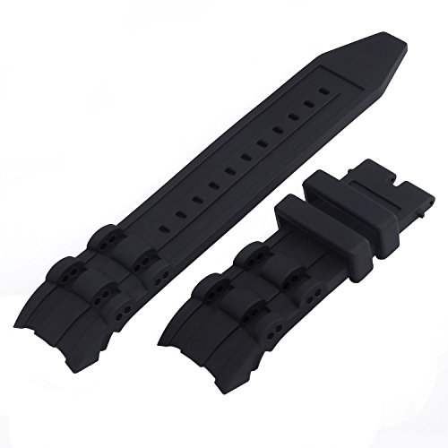 Adebena for Invicta Pro Diver Black Silicone Watch Band for Invicta Pro Diver Rubber Strap