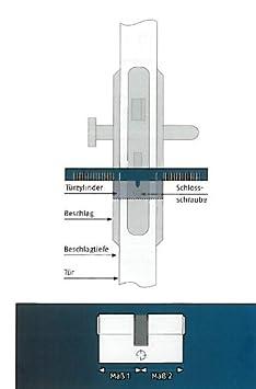 ABUS Profil-Zylinder C73N 40//45 04996
