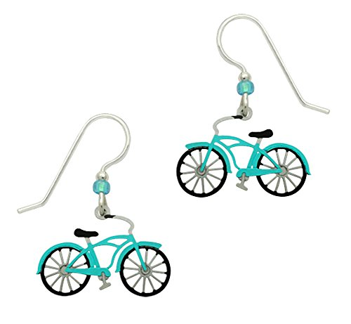 Adajio by Sienna Sky Handmade Vintage-Style Bike in Aqua - - Pear Men Shaped Face