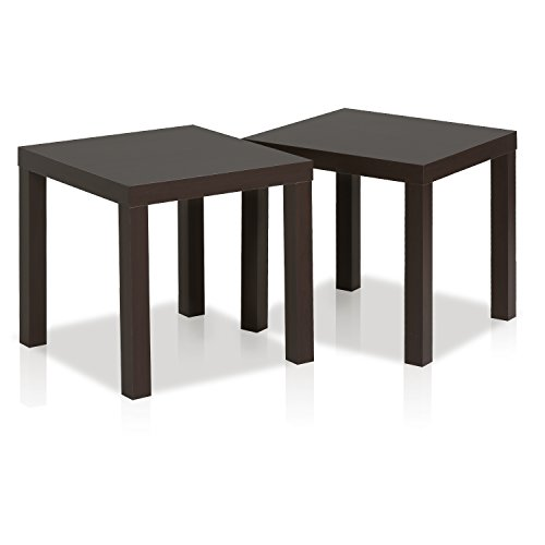 Furinno Classic Cubic End Table, Set Of Two 2FRN001EX, Espresso