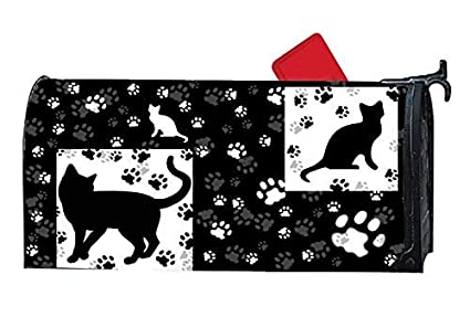 c5d8f0cd086 Amazon.com   Tollyee Blac Blak Cats White Black Cat Paws Magnetic ...