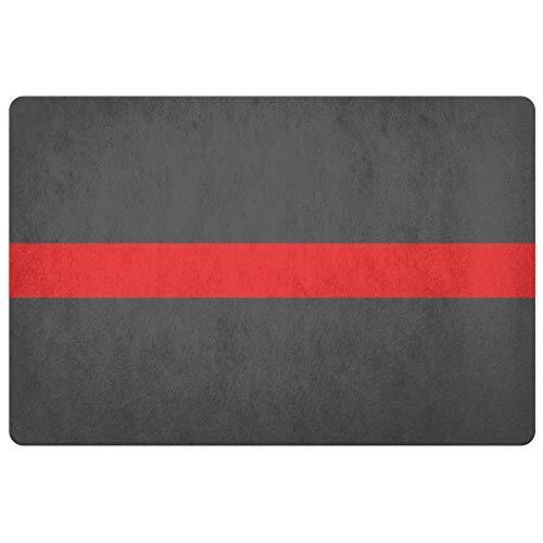 Thin Red Line   Door Mat   Rug   Firefighter   Firefighter Gift   Firemen   Firefighter Wife   Firewomen   Fire Station